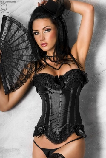 Chilirose -  Dark Angel gorset i stringi - eGusti