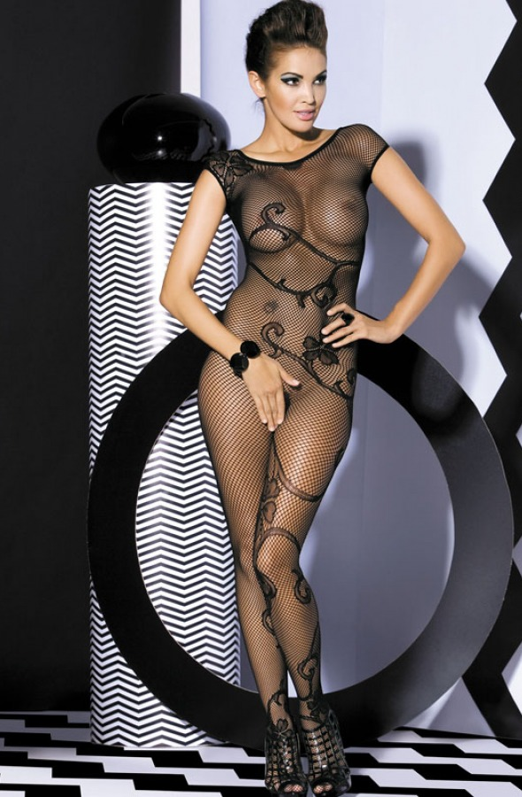 Obsessive -  Bodystocking F201 black - eGusti